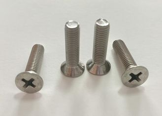 Stainless Steel Metric Machine Screws , M3 M4 Flat Head Machine Screws